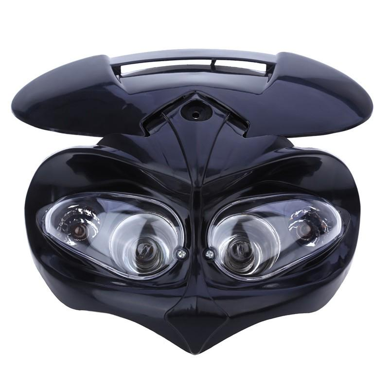 New Motorcycle White H4 Plastic Front Headlight Fairing