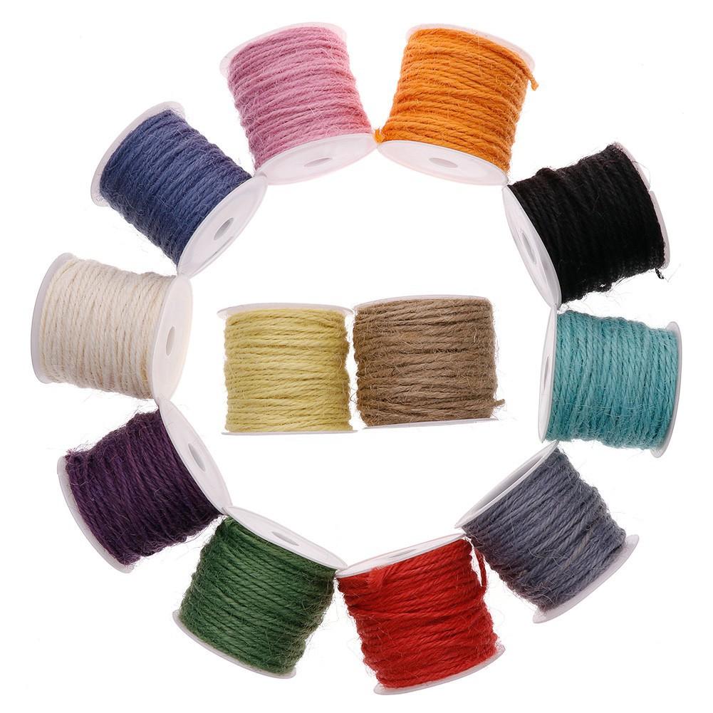 DIY 10m packaging gift beige color jute linen ribbon rope rope width 2MM