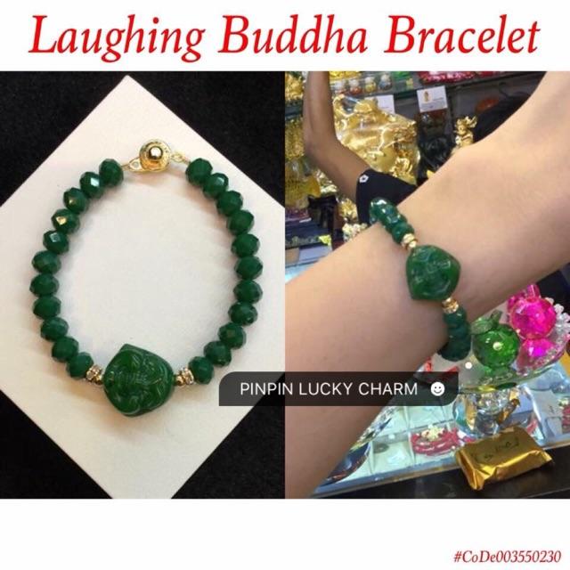 55dc5c6144b1a Chinese Feng Shui COUPLES JADE MEDICINE BUDDHA Charm Bracelet ...