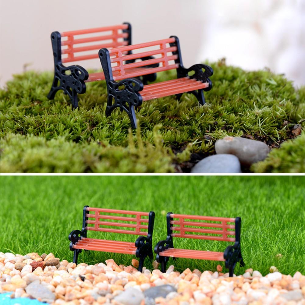 Pleasant Mini Diy Garden Ornament Miniature Park Seat Bench Craft Fairy Dollhouse Decor Camellatalisay Diy Chair Ideas Camellatalisaycom