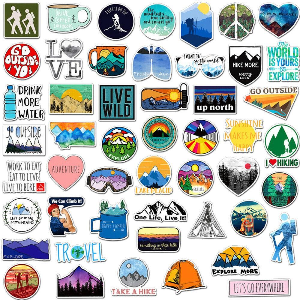 50 Surfing Skateboard Stickers Vinyl Laptop Luggage Decals Dope Sticker lot cool