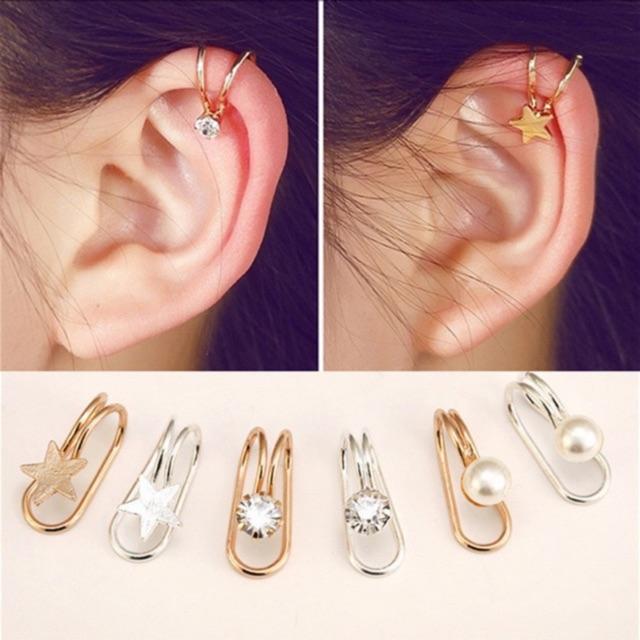 315490b70a6a1 [Maii] CE017 Louvie Ear Cuff Korean Jewelry Earrings