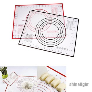 30*40Silicone non stick baking dough rolling kneading mat measurement grill pad*