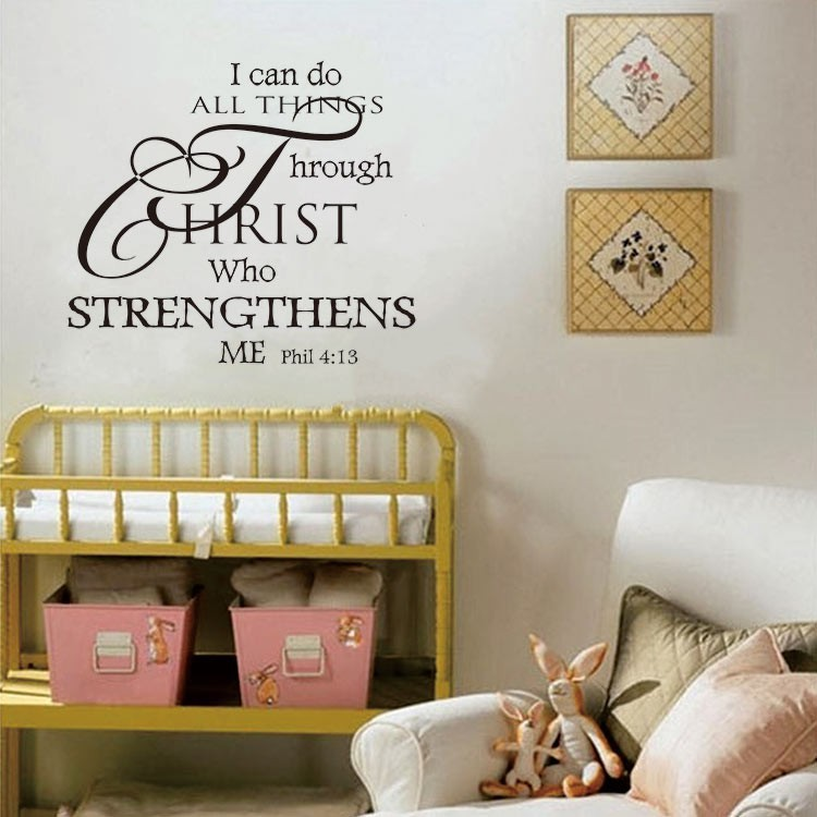 all things are possible letter wall sticker home room decor | shopee