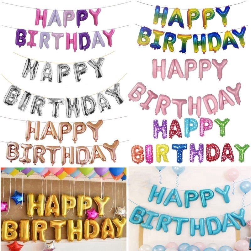 "16 inch Foil Balloons Letter Combinations /""HAPPY BIRTHDAY/"" Birthday Party Decor"