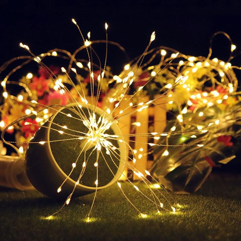 Firework Led Copper Wire Strip String Lights For Wedding Decor Led