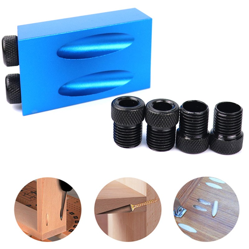 25 Pcs Oblique Hole Positioner Locator Tool for Woodworking DIY Punch Angle Pocket Hole Jig 15 Degree,Oblique Drill Guide Set