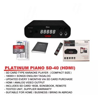 The Platinum Piano SD Card Karaoke Player w/ KS-5000 Mic