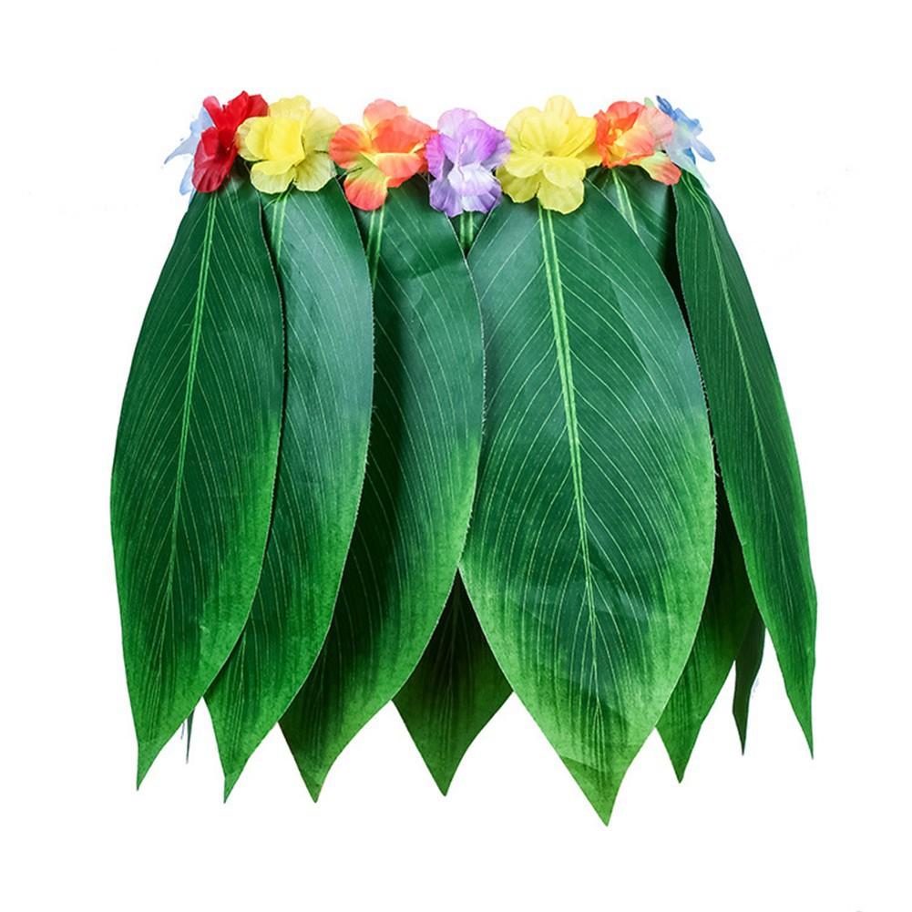 4pcs Hawaiian Tropical Hula Luau Grass Dance Head Neck Wrist Garland Xmas SNUK