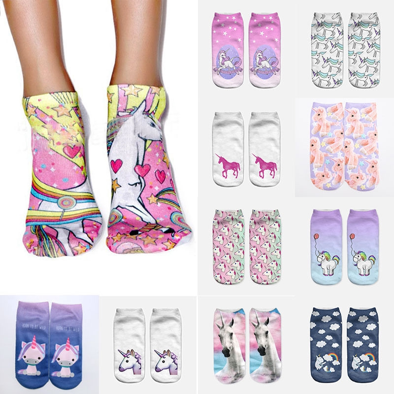 Unisex Women Casual Skull Print Printed Socks Short Socks Low Cut Ankle Socks