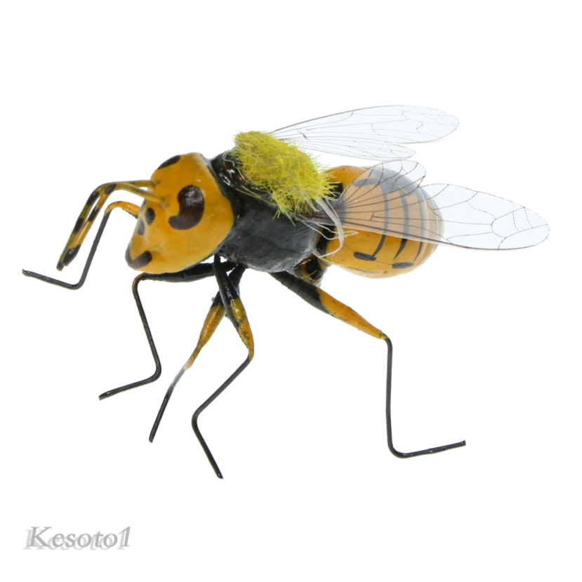 5PCS Statue Decor Animal Lawn Ornament Realistic Clay Wild Bees Garden Toy Patio