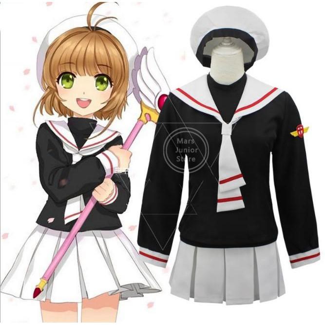 Cardcaptor Sakura Sakura Kinomoto Uniform Cosplay Costume Cos Clothes Clothing