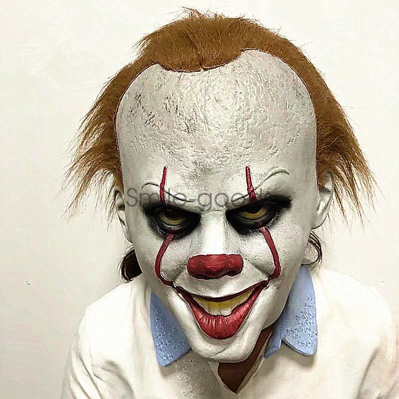 Halloween Cosplay Scary Mask Costume Movie Stephen King/'s IT Clown Pennywise