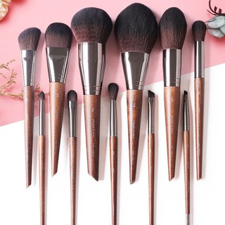 10pcs Set Plastic Marble Texture Make Up Brush Cosmetic