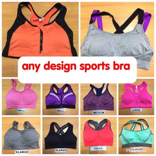 YUNY Womens Breathable Full Coverage Zip-Front Shockproof Sport Bra Rose Red S