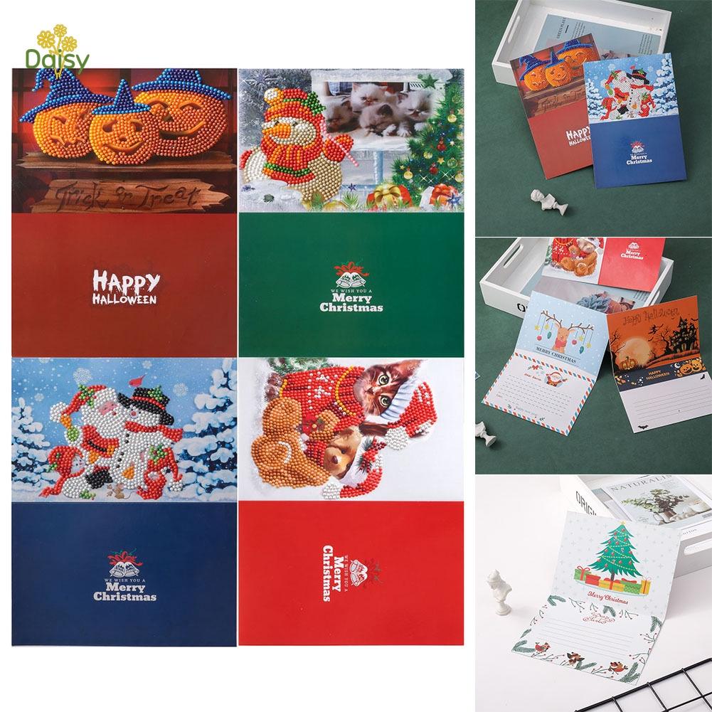 diy diamond painting christmas cards kit new year greeting