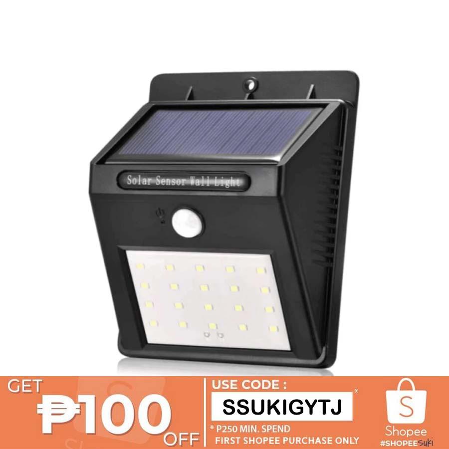 Reject Shop Outdoor Solar Lights: Sensor Solar Wall Light Outdoor Rechargeable Garden Lamp