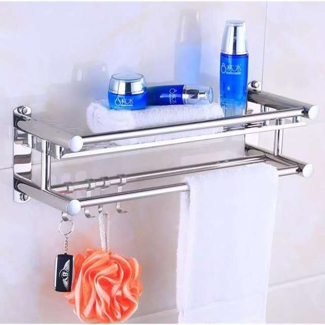 Bathroom Shower Wall Mounted Space Stainless Steel Towel ...