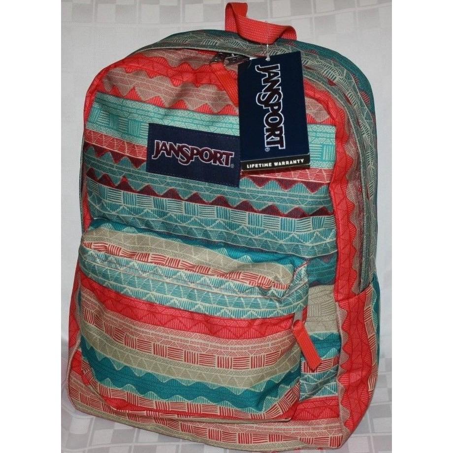 ae5daf790c7d Jansport Superbreak Backpack-Malt Tan Boho Stripe-