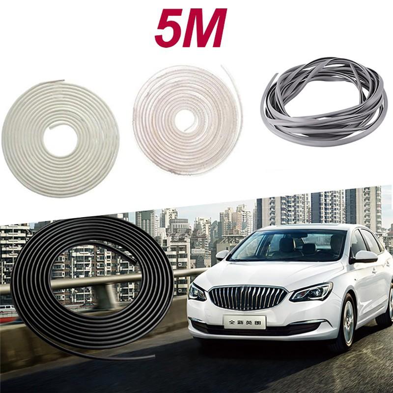 16FT//5M Car Auto Door Moulding Rubber Strip Trim Guard Edge Protector Cover Gray
