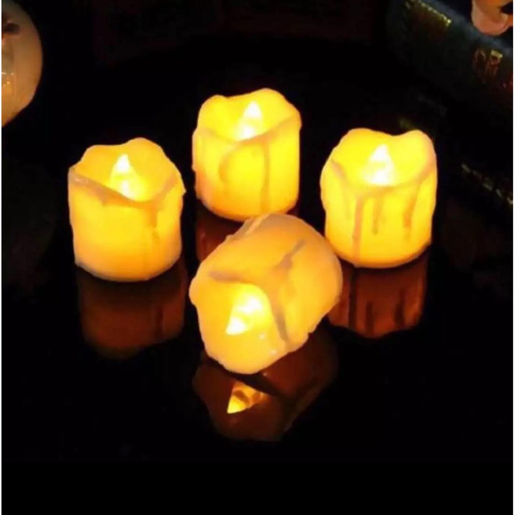 LED Candle Lights Flameless Tea Candle Lamp Electronic Candle Party Home  Wedding Decor - Yellow Ligh