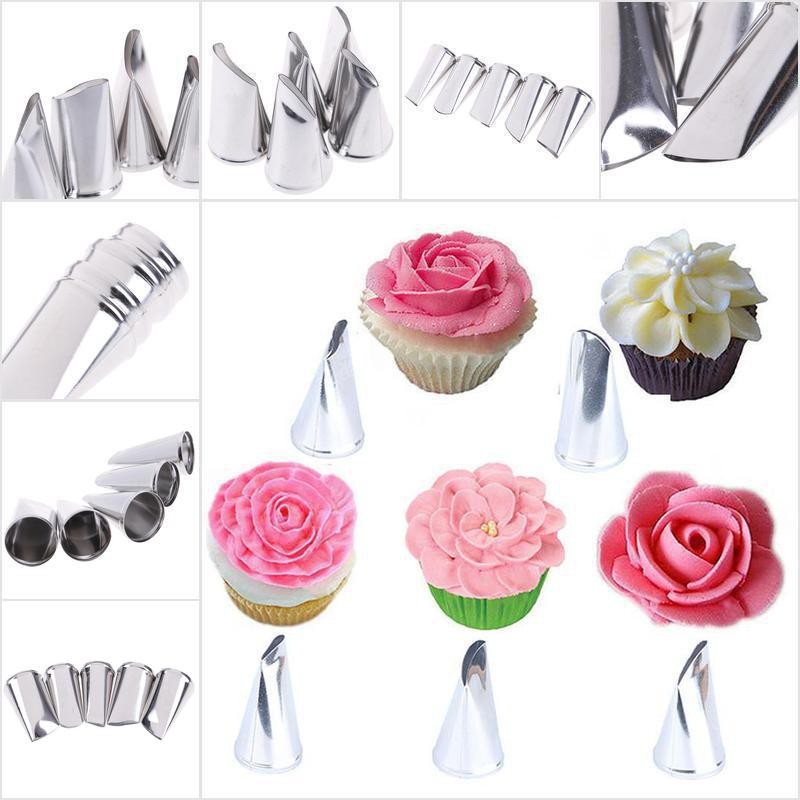 COD•uslo】5pcs Rose Petal Metal Cream Tips Cake Decorating Tool Icing Piping N   Shopee Philippines