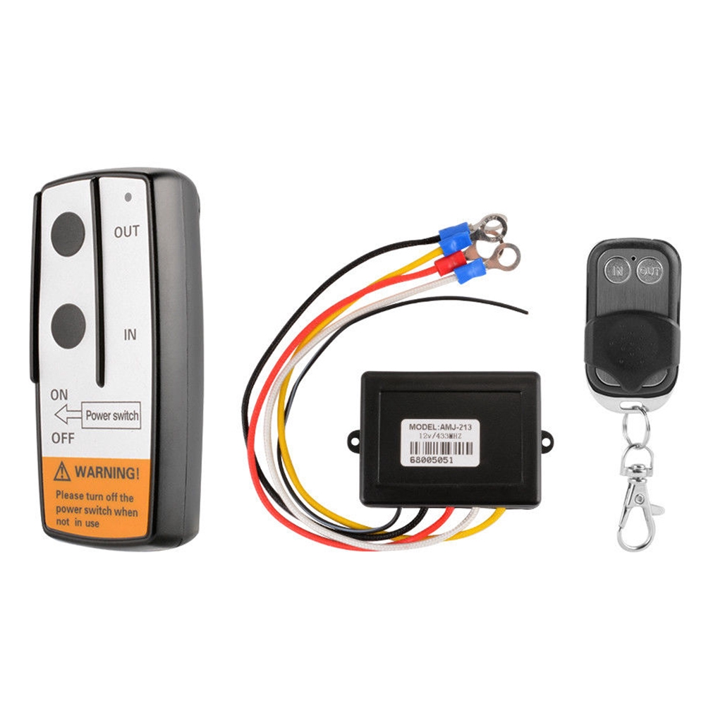 Universal Car Truck 100ft DC 12//24V Wireless Winch Remote Control Switch Handset