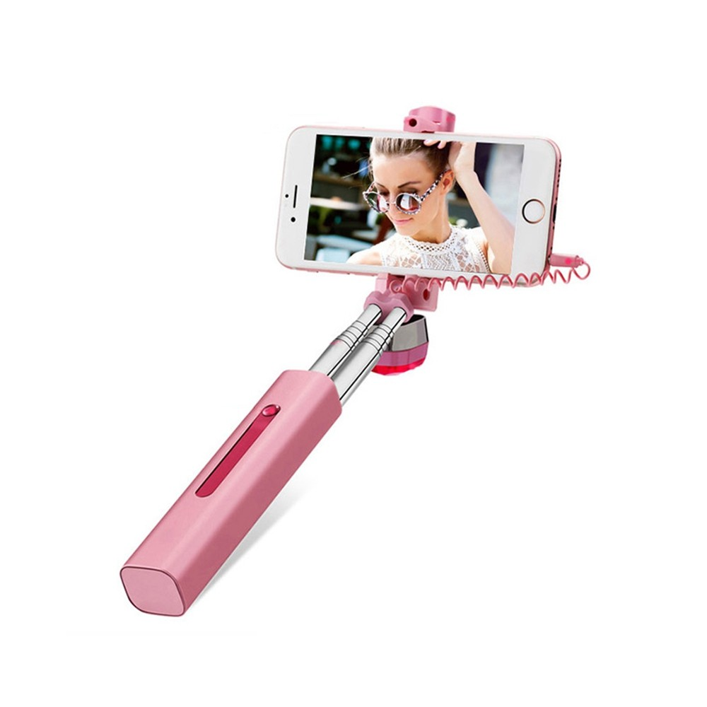 Atongm Wire Control Selfie Stick Monopod Camera Shutter 180