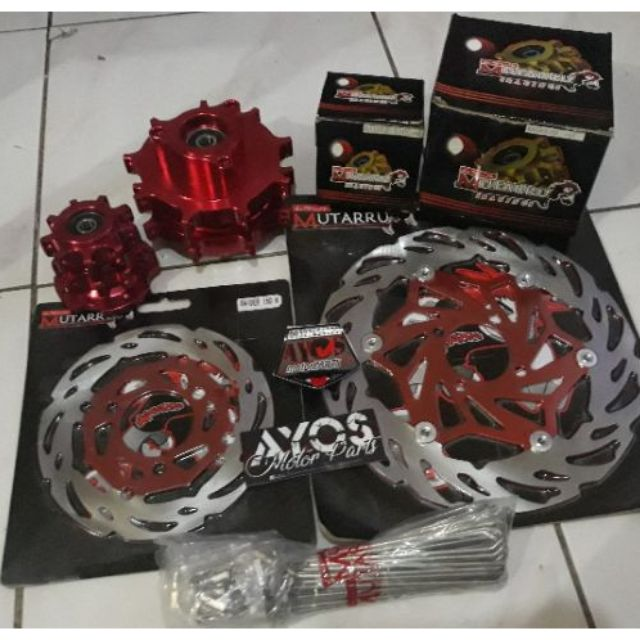 Raider 150 Mutarru Hub Disc and Rayos Set Flower Type