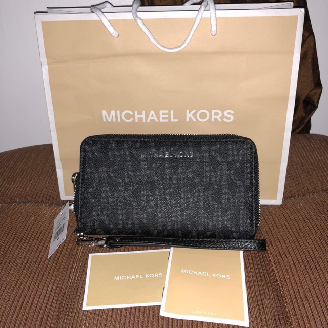 93f9a949611d Michael Kors - 2in1 Tina Wallet Clutch Leather Xbody - Rose   Shopee  Philippines