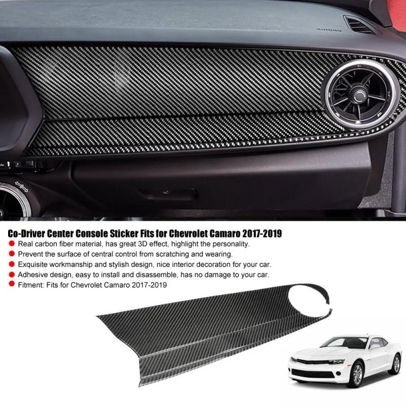 Carbon Fiber Interio Center Console navigate Pane For Chevrolet Camaro 2017-2019