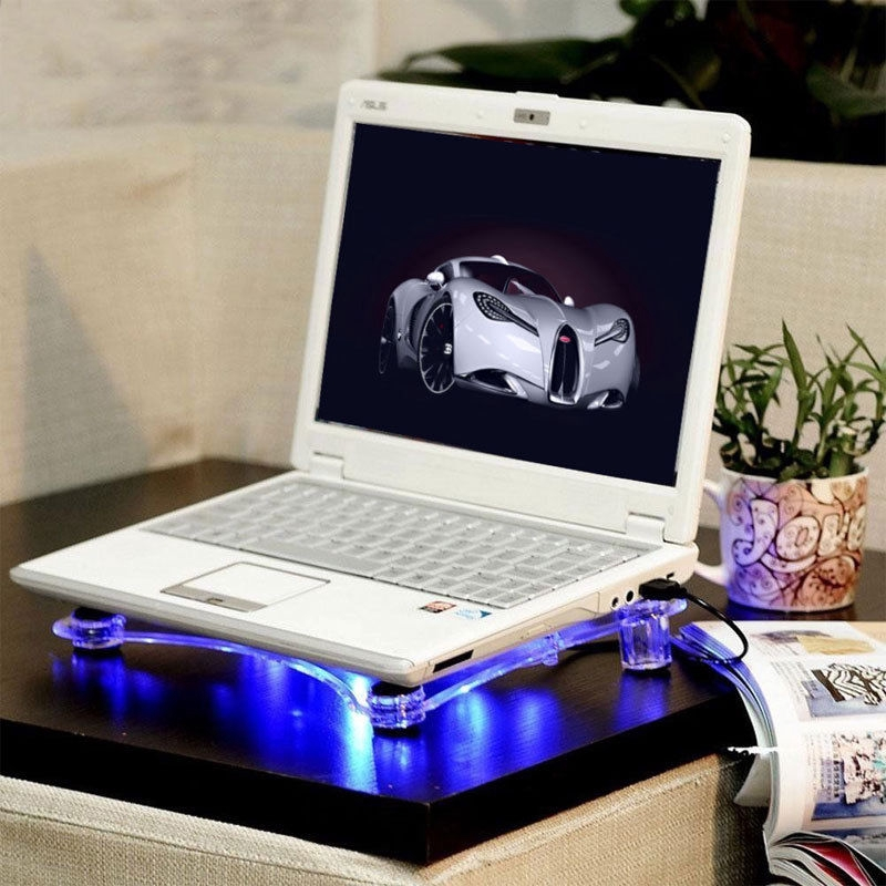 Jry₪Transparent Notebook Laptop Radiator Heat Sink USB