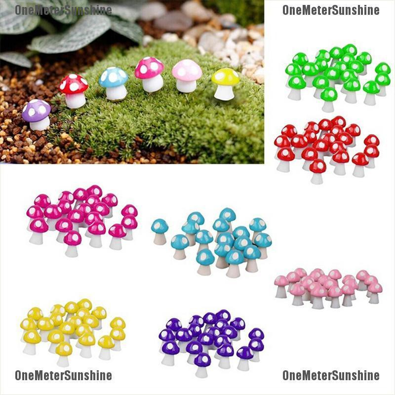 20X Miniature Mushroom Bonsai Craft Ornament For Plant Pots Fairy Garde/_NAV!
