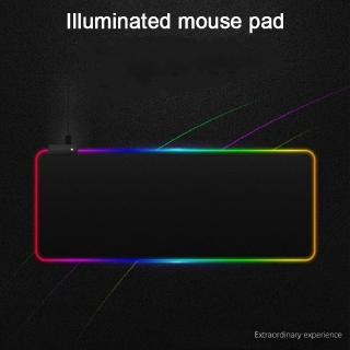 Dirt-Resistant Gaming Mouse Pad 900 x 400 x 4mm Gaming Mouse Pad Extra Large Size Ultra Thick RGB Colorful LED Lighting Waterproof