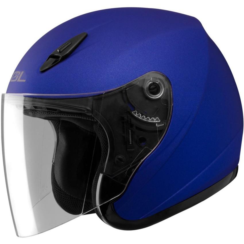 sol halfface sl17 s solid motorcycle helmet honda blue shopee