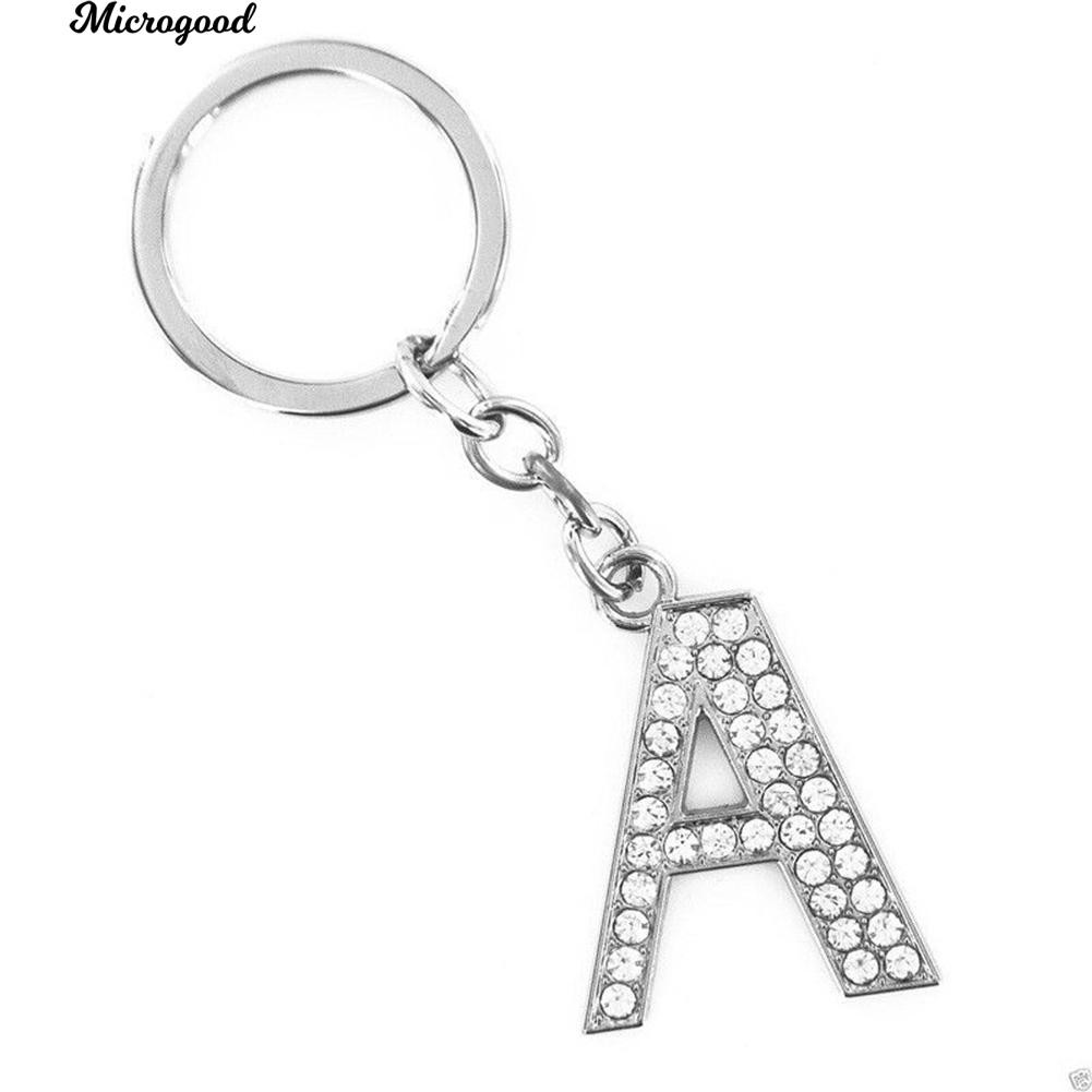 Rhinestones Bling  Alphabet Letters Key-Chains Holder A-Z US Sellers New w// Box