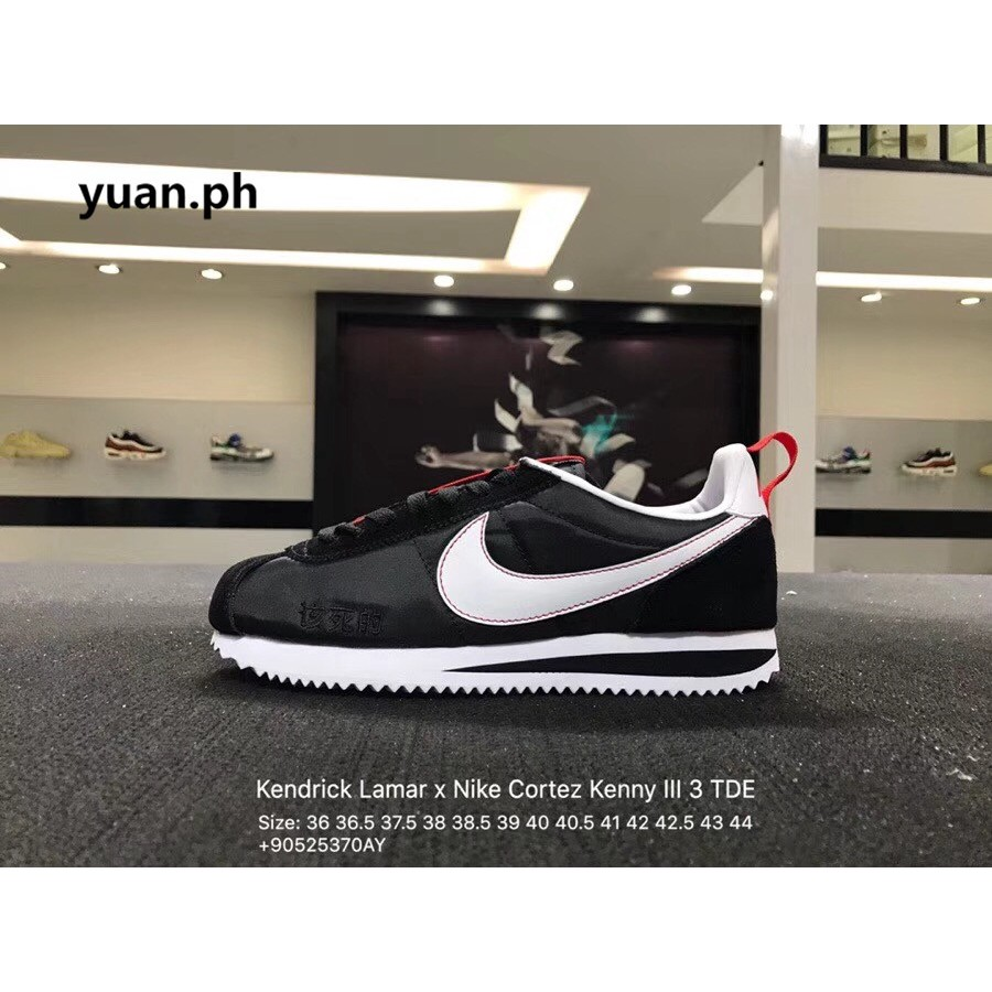 new product 69310 f8337 Kendrick Lamar x Nike Cortez Kenny 1 Men shoes Sneakers s03   Shopee  Philippines