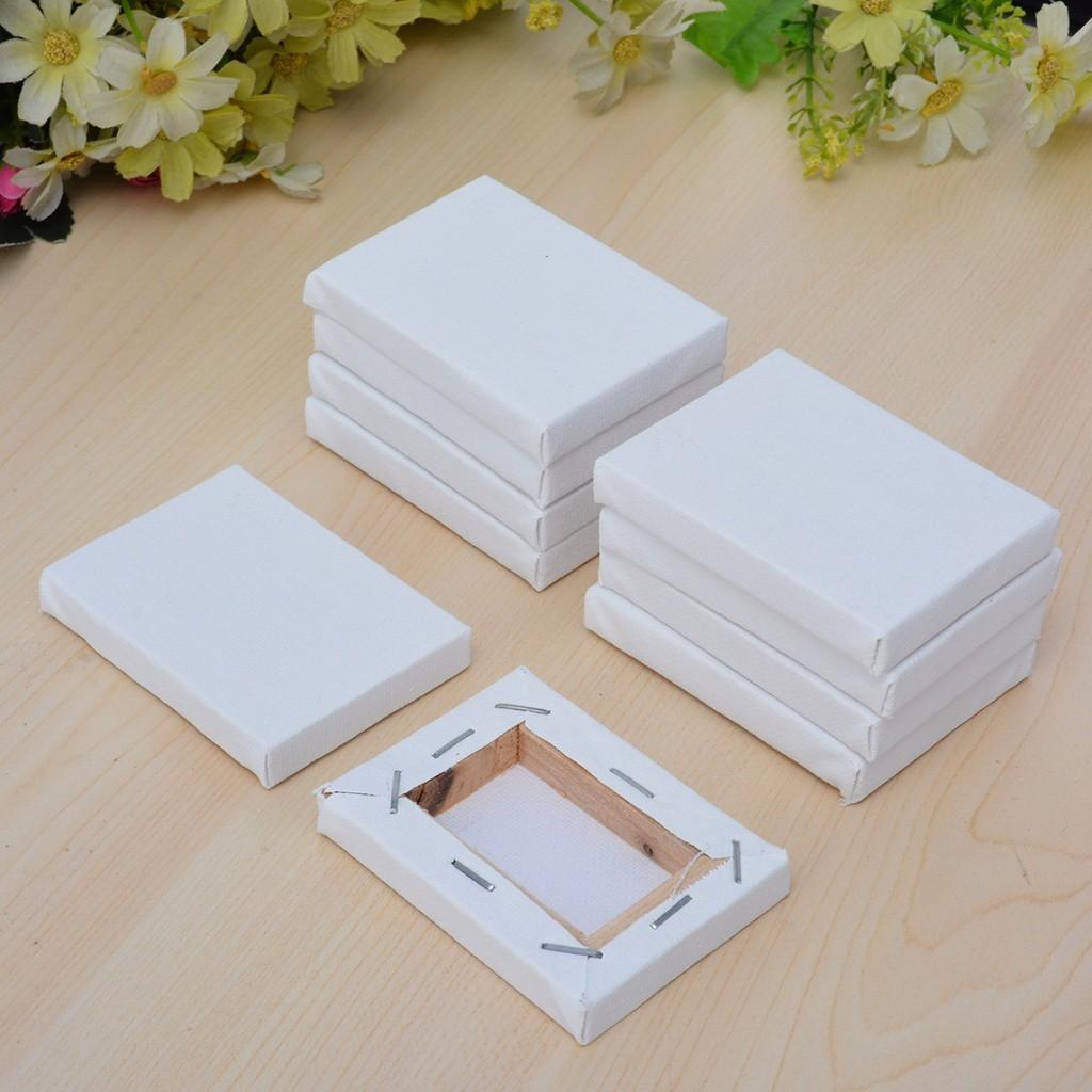 10pcs 5*7cm Mini Stretched Artists Canvas Small Art Board Acrylic Oil Paint Set