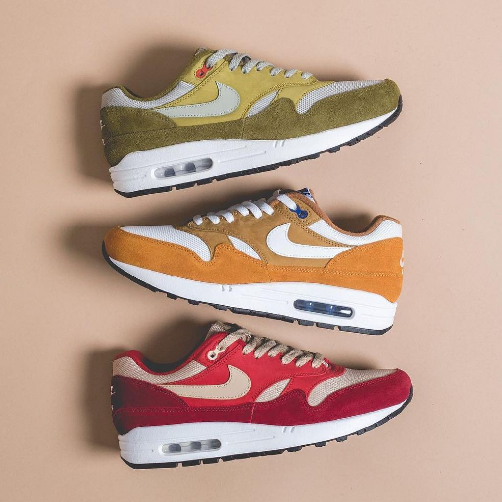 NIKE (Nike) AIR MAX 1 PREMIUM RETRO RED CURRY (908,366 600) red curry US11(29cm)