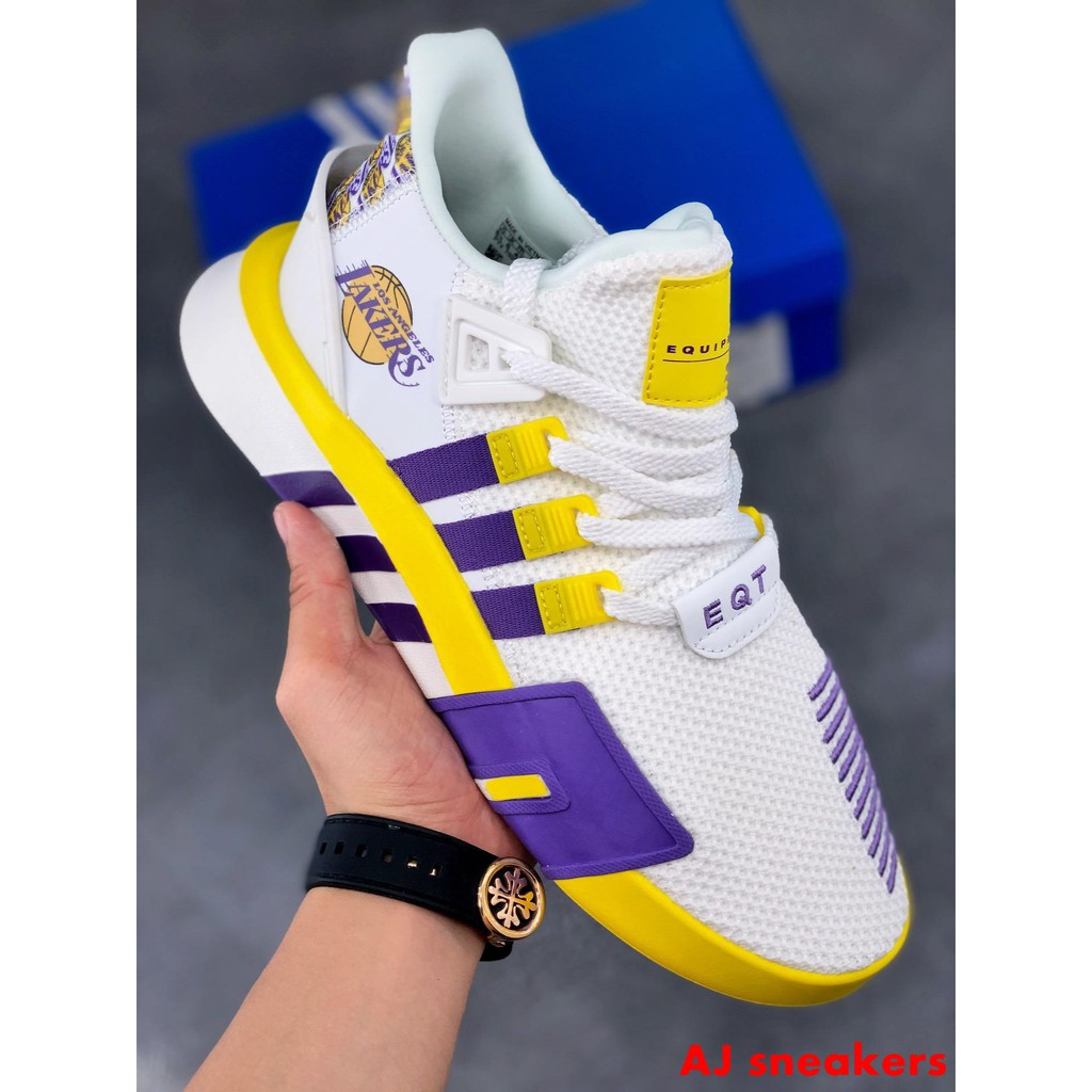 Adidas Eqt Bask Adv Purple Lakers Retro Running Shoes A7 Shopee Philippines