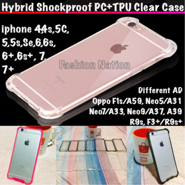 official photos c4741 875f3 ShockProof iPhone Case 4 4s 5C 5 5s Se 6 6s 7 8 Plus X Oppo