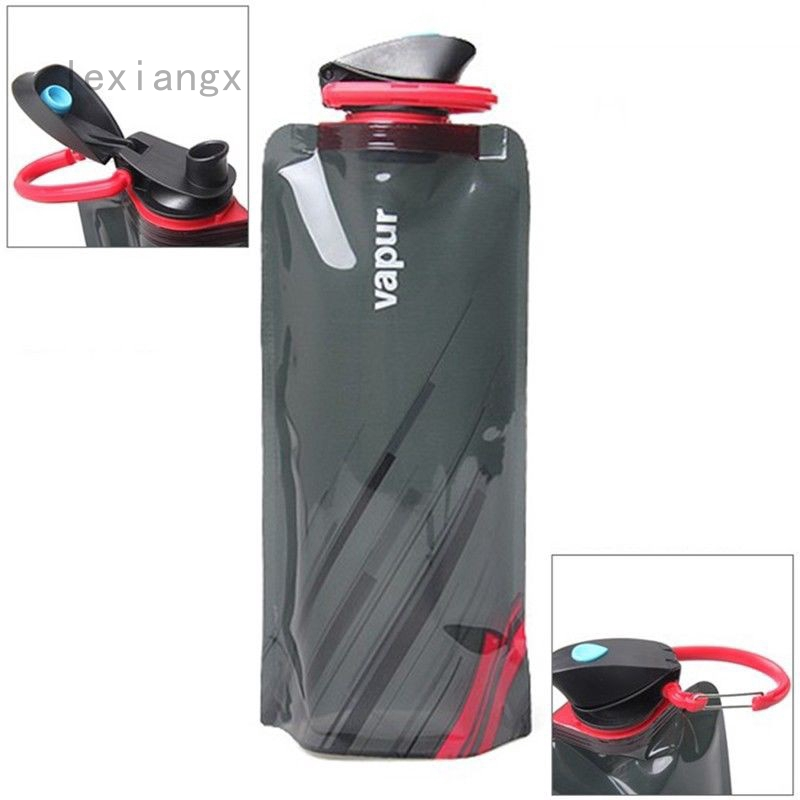 700ml Folding Portable Drink Water Bottle Bags Travel Camping Sports Water Bags