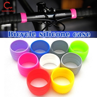 1 Pair Cycling Handlebar Tape Fixing Sleeve Silicone Rubber Anti-Skip Road Bike