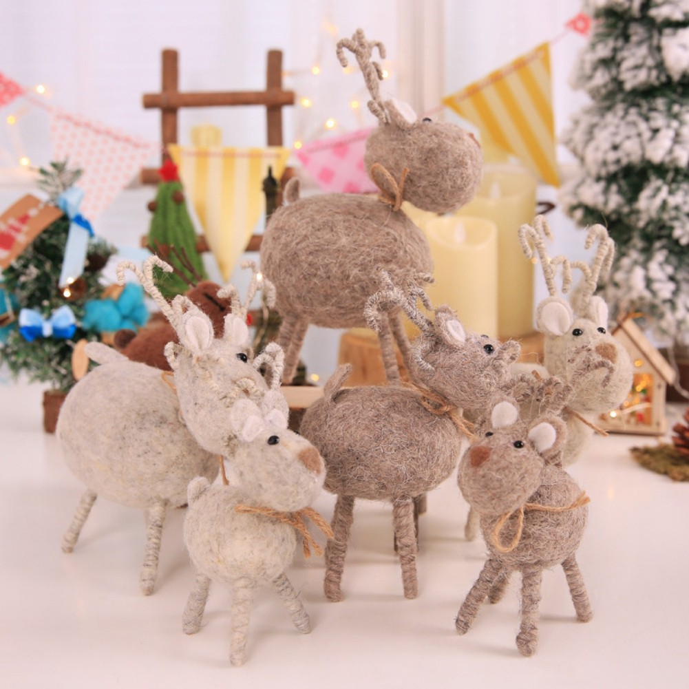 Simulation Deer Christmas Decorations Ornaments For Home Office Indoor Accessory