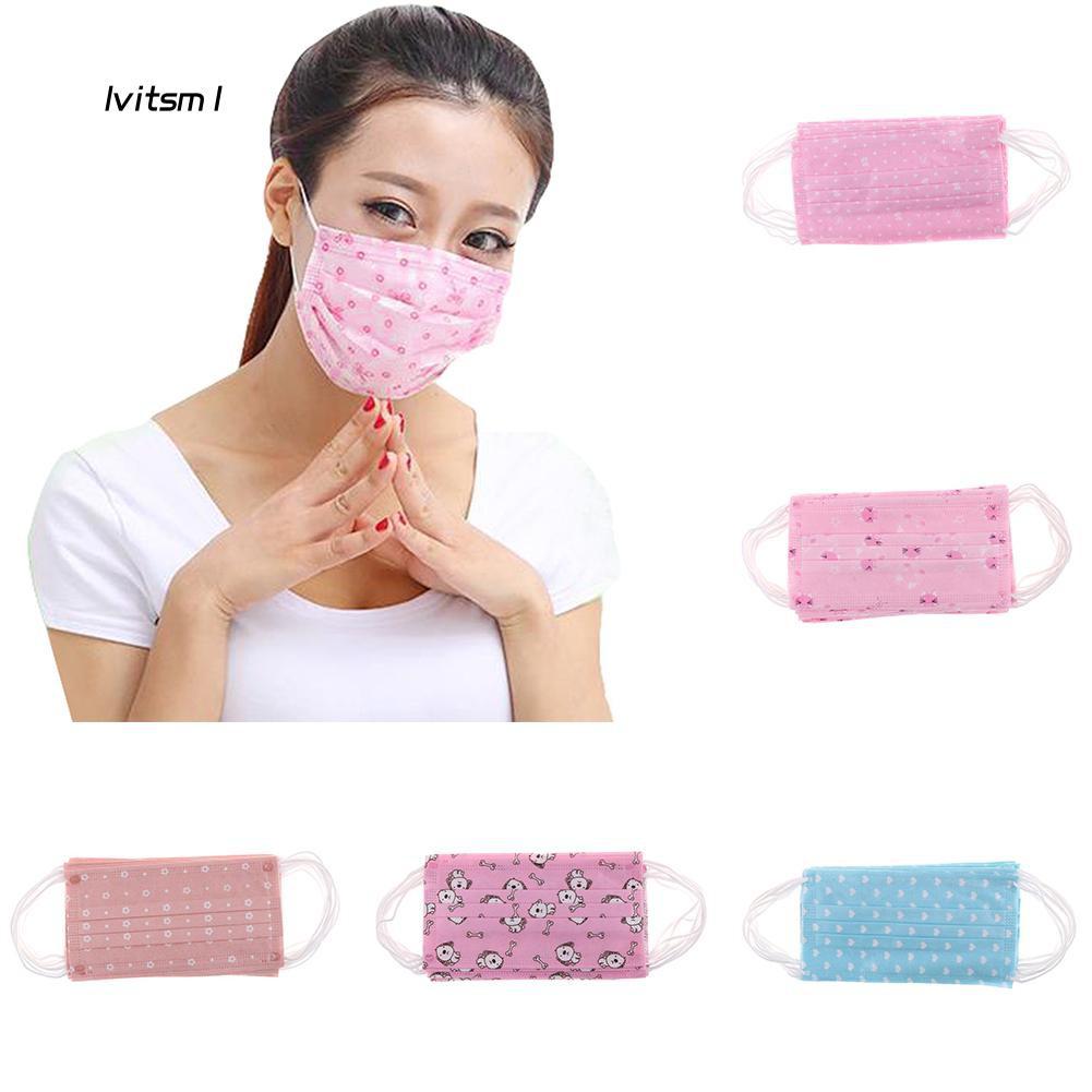 Masks Ltm1 Disposable Surgical 10pcs Mouth Face Ear Loop Dust Medical Cute Women
