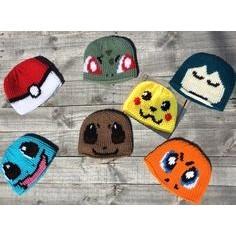 Crochet Pikachu Hat/Pokemon/Anime/Cosplay/Kawaii/Character /Fandom ... | 236x236