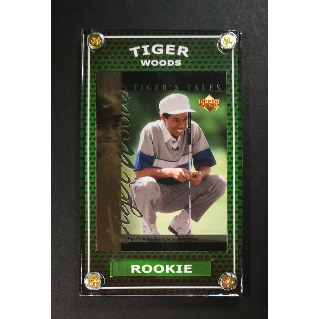 Tiger Woods Rookie 2001 Golf Card Limelight At Young Age