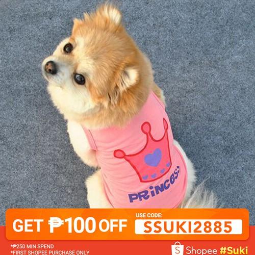 b85c2882bbb03 【SSUKI2885】👍Dog Cat Princess Letter Crown Vest Summer costume pet