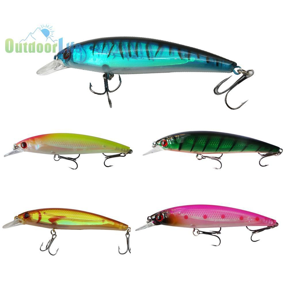 50pcs Fishing Hook Treble w// Feather For Minnow Fishing Lures Crankbaits 5 sizes