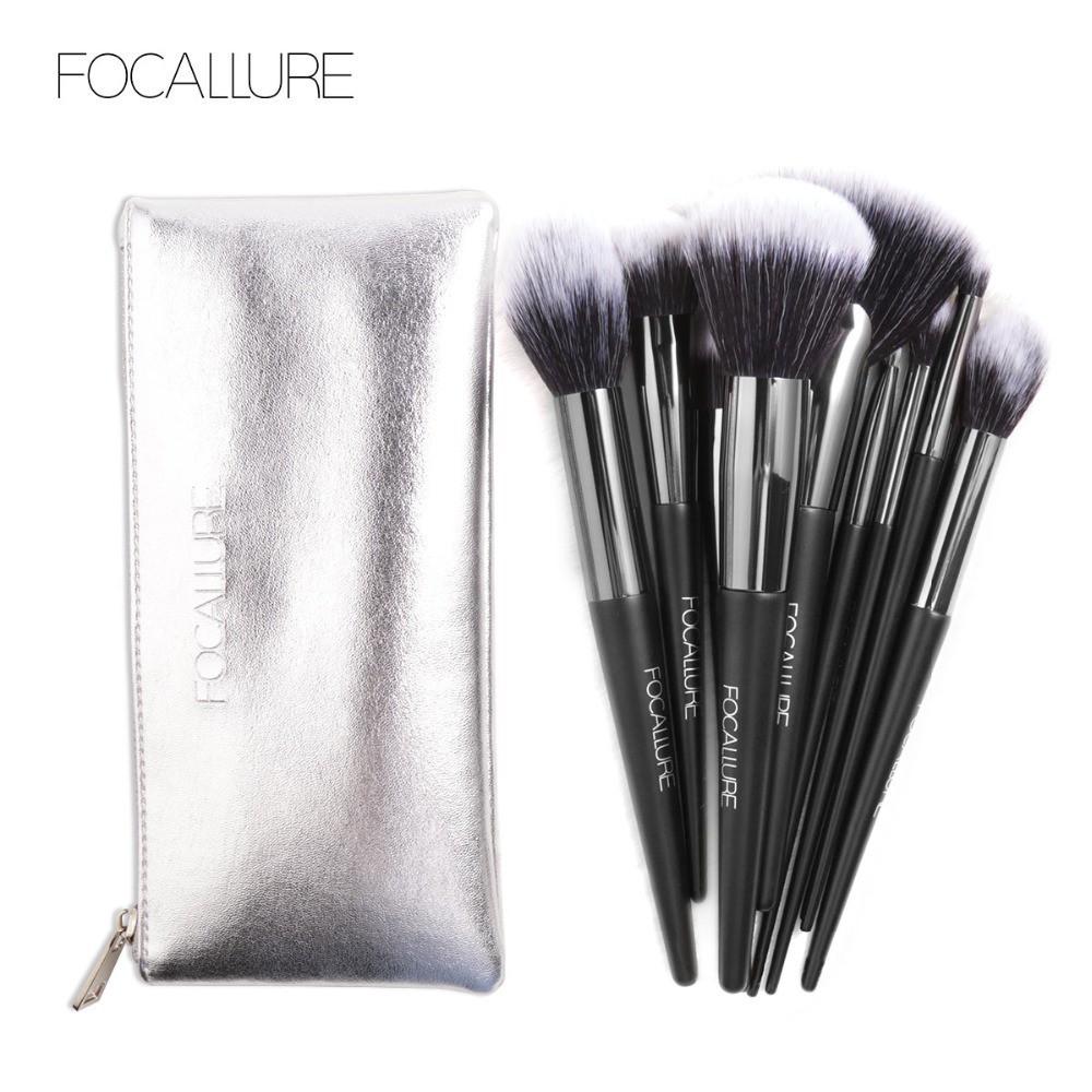 Set Makeup Brushes With Bag Cosmetics